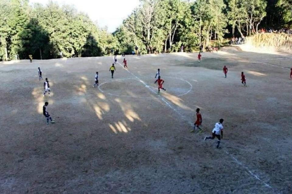 Dadeldhura: Dip Jyoti Yuwa Club Constructs A Football Ground