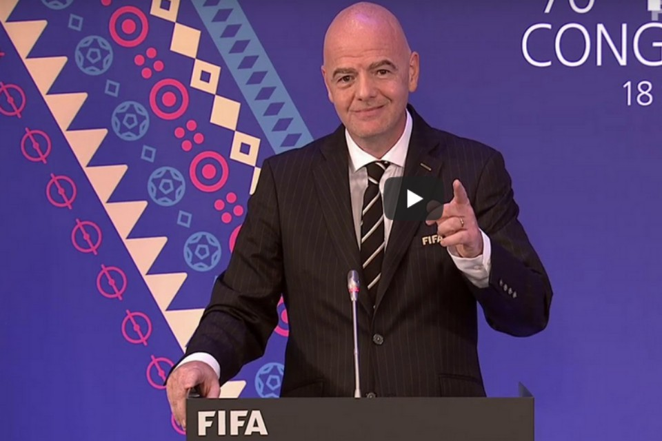 FIFA Prez Infantino Uses Virtual FIFA Congress Platform To Encourage Football's Safe Return
