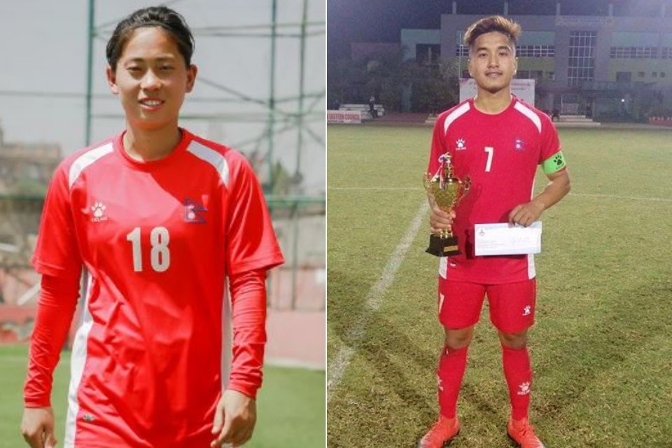 ANFA Awards Abhisek Rijal & Manjali Yonjan With Rising PoY 2075