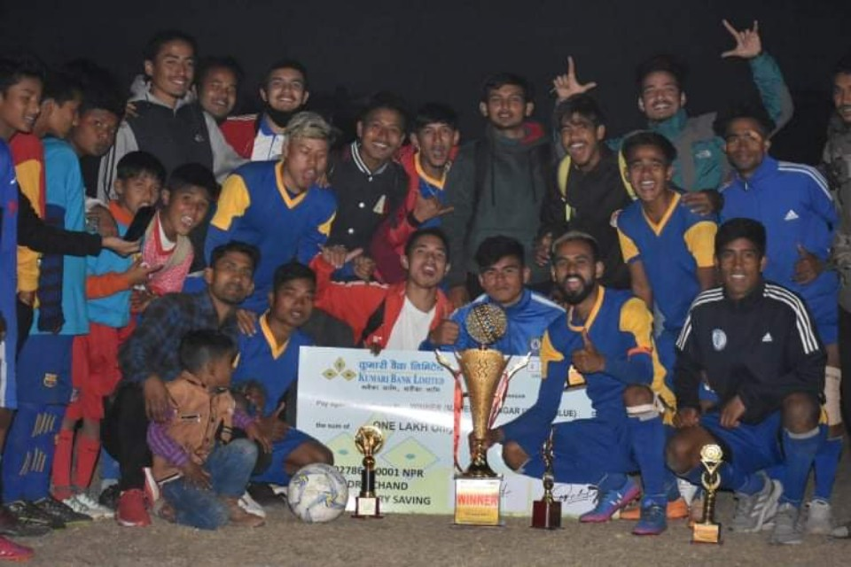 Kanchanpur: Mahendranagar United Wins Title Of 1st United Football Championship