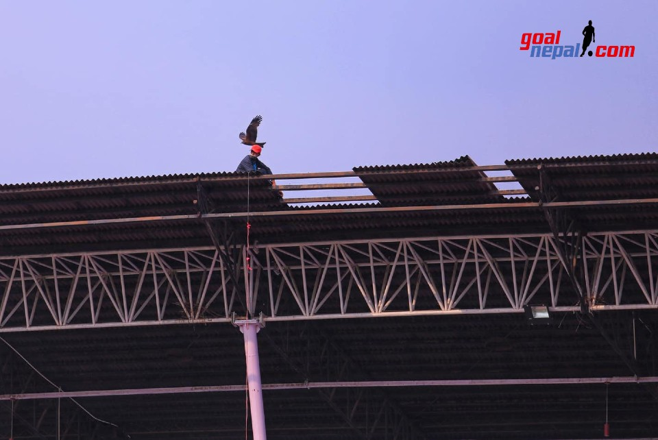 National Sports Council Starts Repairing Torn Out Roof Sheets
