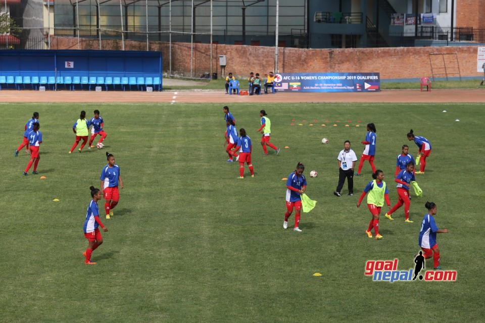 AFC U16 Women's Champion 2019 QFS :  Nepal Vs Philippines
