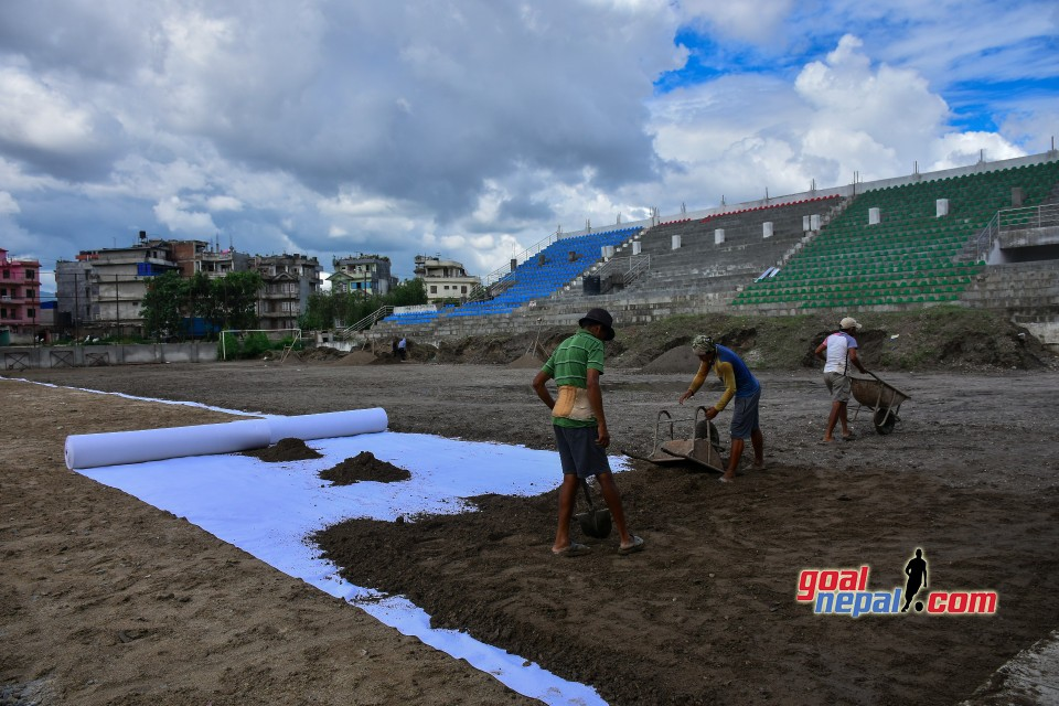 Football Field Construction At Chyasal Stadium In Full Swing