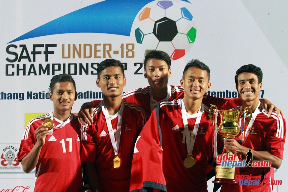This Is How Nepal U18 Celebrated Title Win In Thimpu