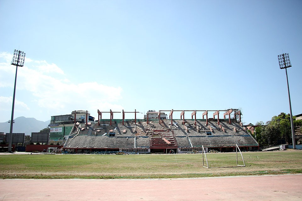 Dasharath Stadium Renovation In A Snail Pace - GN Follow Up