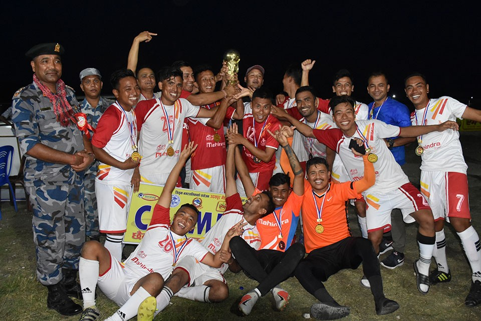Nepal APF Wins Title Of 6th Rumpum Udayapur Gold Cup