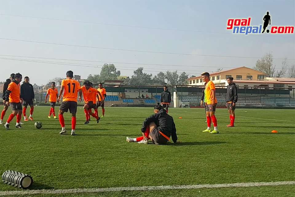 Nepal National Team Warm Up Session