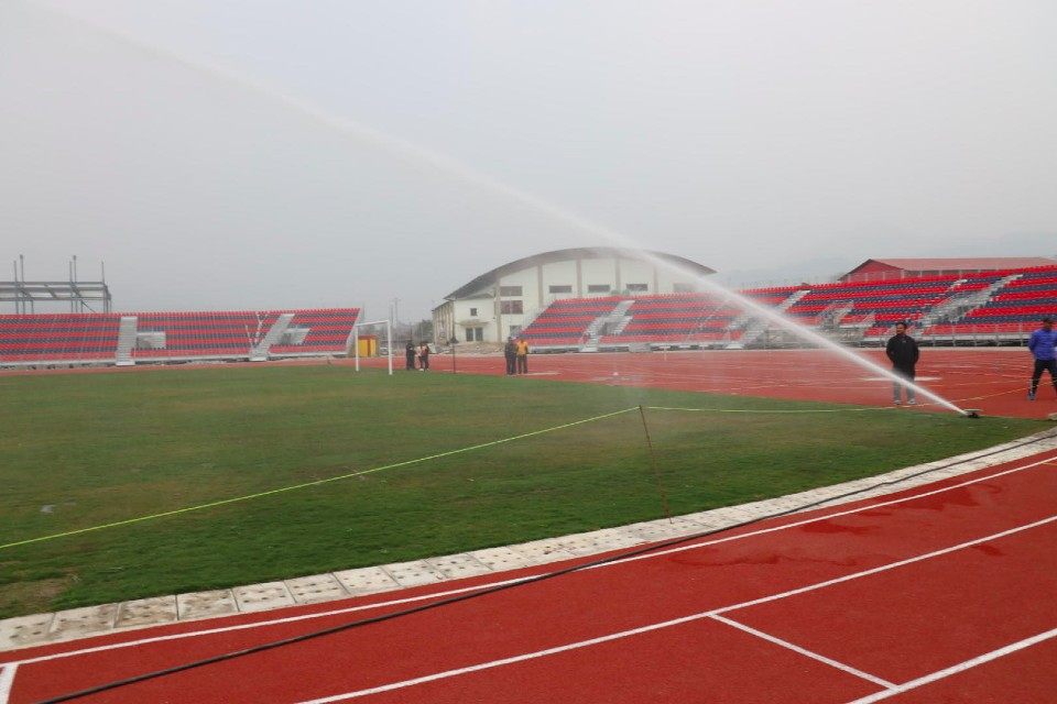NEPAL USES WATER HOSE AT POKHARA STADIUM - FOR THE FIRST TIME!